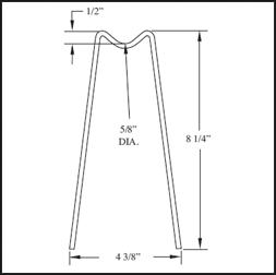 TS1 - Dual Leg Rebar Support